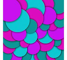 Abstract groups of circles background illustration Photographic Print