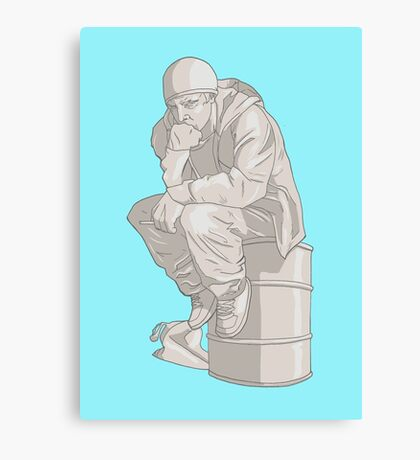 Thinkin' Pinkman Canvas Print