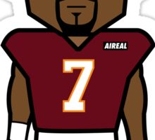 Angry Hokie Vick Cartoon by AiReal Apparel Sticker