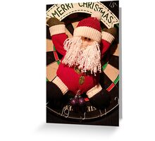 Santa's hanging Greeting Card