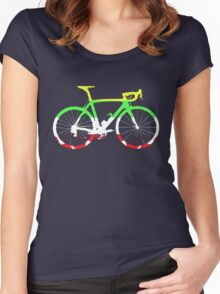 Bike Tour de France Jerseys (Horizontal) (Big)  Women's Fitted Scoop T-Shirt