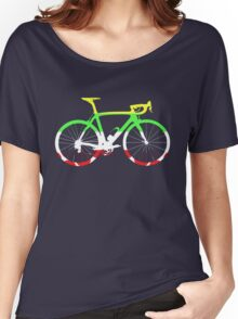Bike Tour de France Jerseys (Horizontal) (Big)  Women's Relaxed Fit T-Shirt