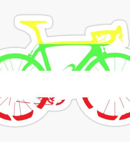 Bike Tour de France Jerseys (Horizontal) (Big)  Sticker