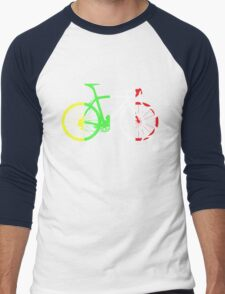 Bike Tour de France Jerseys (Vertical) (Big)  Men's Baseball ¾ T-Shirt