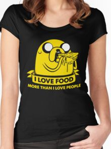 I love food more than I love people Women's Fitted Scoop T-Shirt