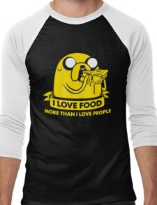 I love food more than I love people Men's Baseball ¾ T-Shirt