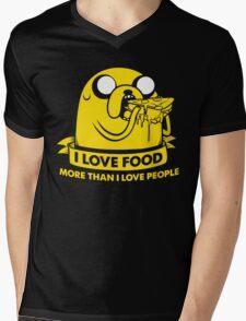 I love food more than I love people Mens V-Neck T-Shirt
