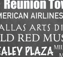 Dallas Famous Landmarks Sticker