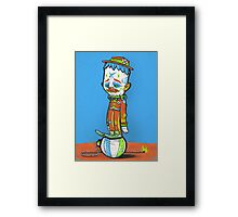 CLOWN FROWN (POSTER) Framed Print