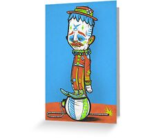 CLOWN FROWN (POSTER) Greeting Card