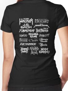 Heavy Metal-style Classical Composers Women's Fitted V-Neck T-Shirt