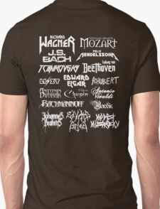 Heavy Metal-style Classical Composers T-Shirt