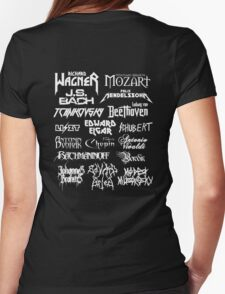 Heavy Metal-style Classical Composers Womens Fitted T-Shirt