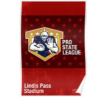 American Football Pro State League Poster Art Poster