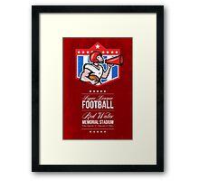 American Football Quarterback Bullhorn Poster Art Framed Print