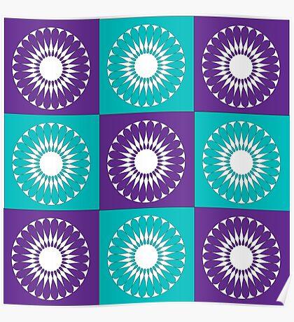 Retro Flower Patch Print Poster