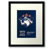 United Gridiron Football League Poster Framed Print