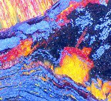 Volcanic Landscape (Tiger Eye) by Stephanie Bateman-Graham