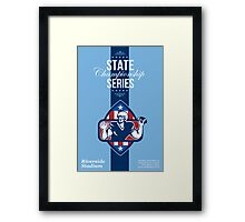 American Football State Championship Series Poster Framed Print