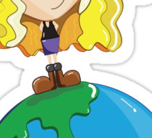 On top of the world Sticker