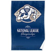 American Football National League Championship Poster  Poster
