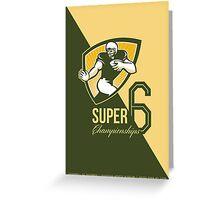 American Football Super 6 Championship Poster  Greeting Card