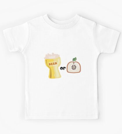 Beer or Apple Kids Tee