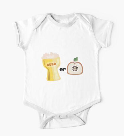 Beer or Apple One Piece - Short Sleeve
