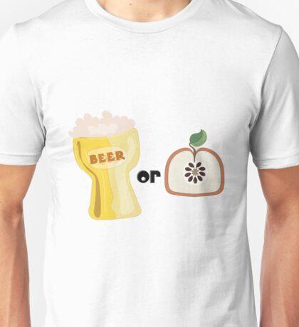 Beer or Apple Unisex T-Shirt