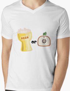 Beer or Apple Mens V-Neck T-Shirt