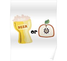 Beer or Apple Poster