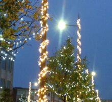 Plymouth Christmas lights. Sticker
