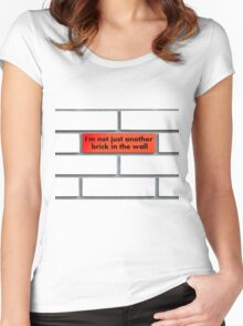 Just another brick (red) Women's Fitted Scoop T-Shirt