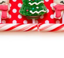Christmas background with candies Sticker