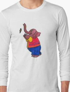 Elephant and Butterfly Long Sleeve T-Shirt