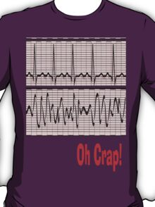 Funny Oh Crap Cardiac Rhythm T-Shirt