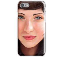 Woman in a Fur Coat iPhone Case/Skin