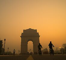 A Foggy Morning & Sunrise at National Monument by MANAS RANJAN SAHOO