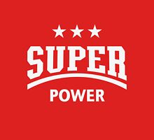 Super Power (White) Womens Fitted T-Shirt