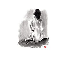 Woman geisha erotic act beautiful girl 女性 Japanese ink painting Photographic Print