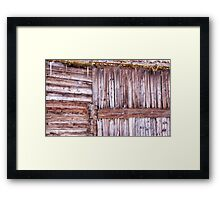 Snowy wood Framed Print