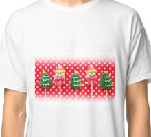 Christmas background with candies Classic T-Shirt
