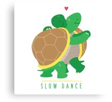 Two Slow Dancing Turtles In Love Canvas Print