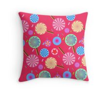 Lolly pop madness <3 Throw Pillow