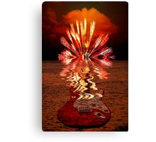 Beached Guitar Canvas Print