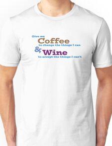 Coffee & Wine Serenity prayer Unisex T-Shirt