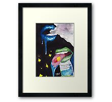 Intoxicated Mouths Framed Print