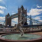 Mermaid, London Bridge and Shard by Ray Clarke