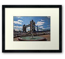Mermaid, London Bridge and Shard Framed Print