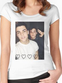 the dolan twins Women's Fitted Scoop T-Shirt